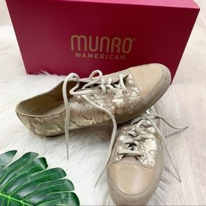 Munro Shoes - Munro Petra Taupe Camo Lace Up Sneakers Shoes 7.5